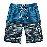 APTRO(アプトロ)メンズ サーフパンツ ショーツ 水着 海水パンツ 海パン ゴムウエスト サーフトランクス #1507ライトブルー L