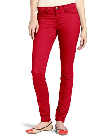 Calvin Klein Jeans Women's Colored Denim Legging, Chili Pepper, 2x32