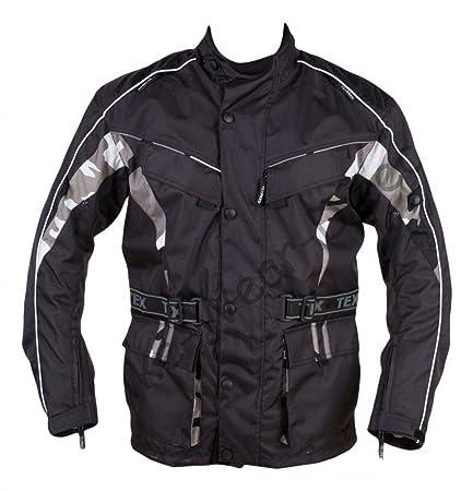 Camouflage Noir Waterproof Motard emballant la veste