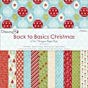 "Back To Basics Christmas Paper Pack 12""X12"" 36 Sheets-Modern - 12 Designs/3 Each"