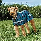 "Weatherbeeta Parka 1200D Dog Coat (24"", Black/Teal Plaid)"