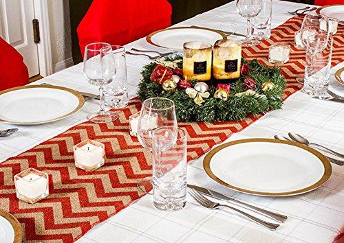 Christmas Table Runner Rustic Hessian