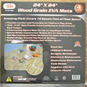 96 SQFT SOFT WOOD FOAM TILE EVA MATS GYM EXERCISE GYM FLOOR INTERLOCKING PUZZLE