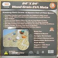 96 Sq Ft Eva Foam Floor Mat Interlocking Wood Grain Exercise Gym Playground 24Pc