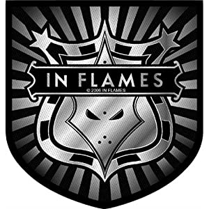 In Flames - Patch Shield Logo (in One Size)