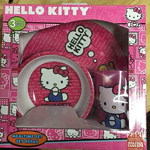 Hello Kitty 3-piece Dinnerware Set