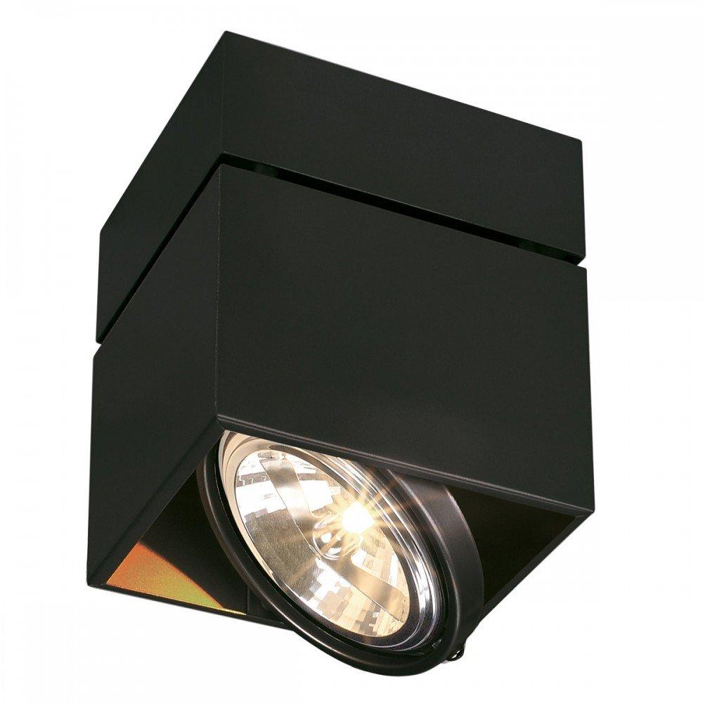 SLV Deckenstrahler Kardamod Surface Square QRB111 Single, eckig, G53, schwarz 117120