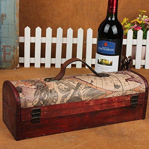 YZL/ Vintage single wine boxes. portable leather wine boxes. antique premium red wine gift box