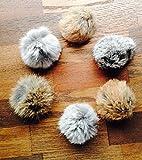Max Rabbit Fur Balls - Handmade Cat Toys