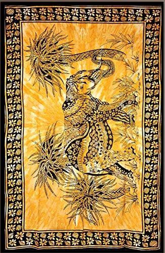 Cruz con diseño de elefante, indio tapiz de pared hecho a Hippie, de flores de colcha, Mandala algodón dormitorio Decor playa - AndExports