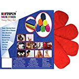 SOFTSPUN Microfiber (4 LAYER) Baby Diaper Inserts (SET OF 4) For Cloth Diaper, Pocket Cloth Diaper (RED)