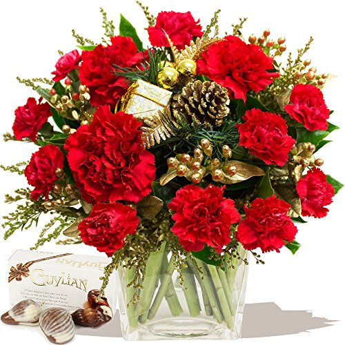 simply-christmas-red-bouquet-chocolates-christmas-flowers-bouquets-by-eden4flowers