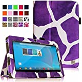 """Fintie Chromo 7"""" Tablet Folio Case Cover - Premium PU Leather With Stylus Holder for Chromo Inc 7 Inch Android Tablet, Giraffe Purple"""