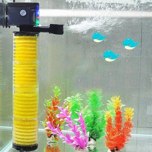 Coffled® 1Pcs 3 In 1 Multi Aquarium Fish Pond Watertank Internal Filter Pump Oxygenation Led