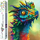 Dylan's cabin DIY 5D Diamond Painting Kits for Adults,Full Drill Embroidery Paint with Diamond for Home Wall Decor(dragon/16x12inch) (Color: dragon)