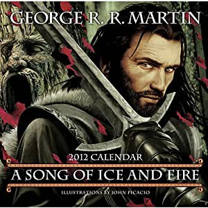 George R. R. Martin A song of Ice and Fire Wall Calendar 2012