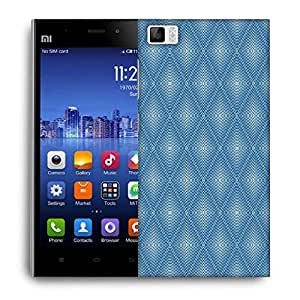Snoogg Blue Pattern Designer Protective Phone Back Case Cover For Xiaomi Mi 3