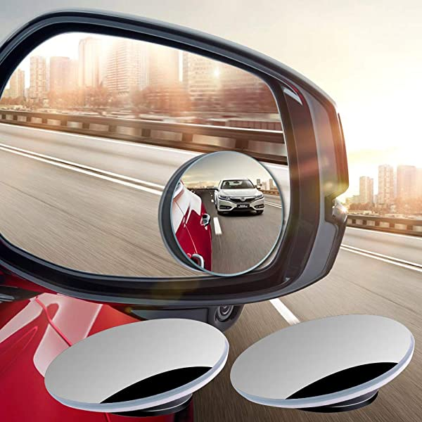 Blind Spot Mirror x 2 Rimless HD Glass Wide Angle 360° Convex Mirror Rear View