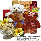 Art of Appreciation Gift Baskets   Bear Hugs For You Sweets and Treats Tote with Teddy Bear
