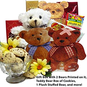 Art of Appreciation Gift Baskets Get Well Bear Hugs For You Tote