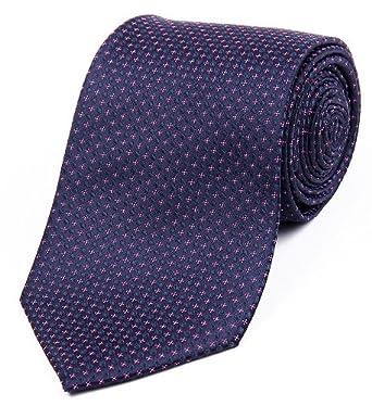 DonDon Designer Krawatte 8 cm - blau