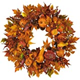 Nearly Natural 4648 Harvest Wreath Fall, 28-Inch, Gold