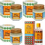 Tiger Balm Liniment (Liquid) 28ml + 3 Jars of Tiger Balm White Ointment 30g/Jar