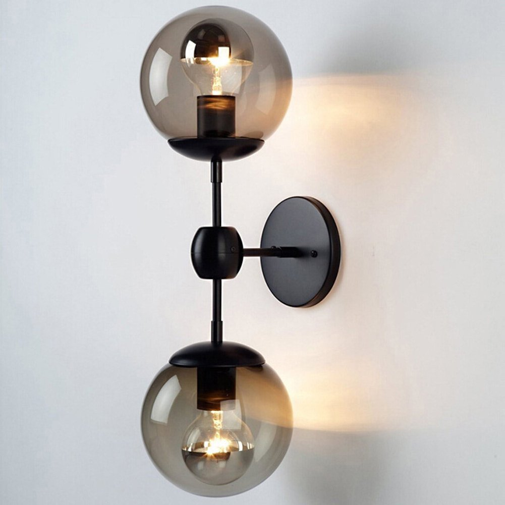 WanYang 2-Light Vintage Wall Light Fixture Industrial Edison Lamp Retro Metal Double Lights Wall ...