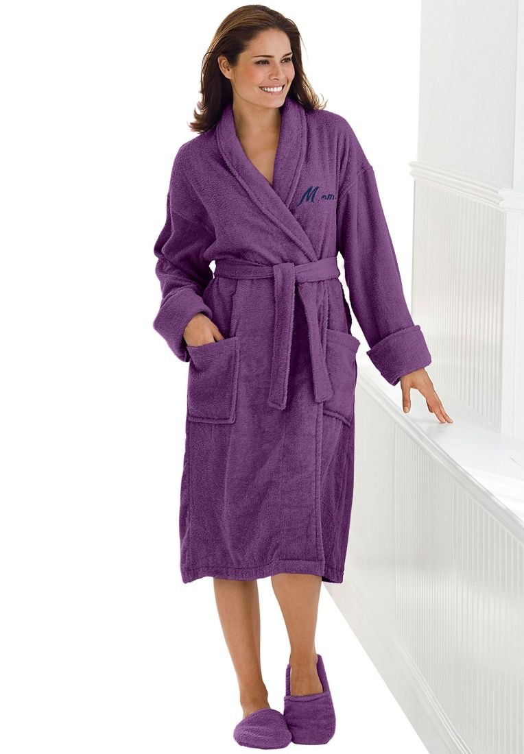 purple bath robes