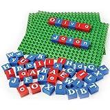 Alphabet Bricks & Base Plates - Educational Building Set