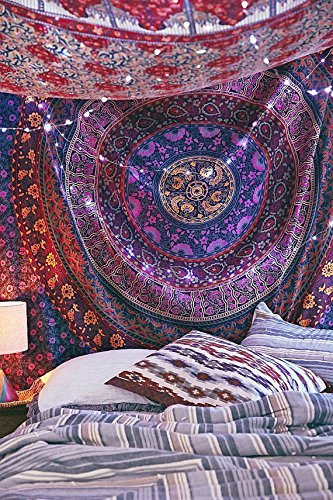 Indian-Hippie-Mandala-TapestryTraditional-Psychedelic-Tapestry-Wall-Hanging-TapestriesThrow-Ethnic-Queen-Size-Round-MandalaIndian-Dorm-Decor-TapestryIndian-Tapestry-Hippie-Hippy-Tapestry