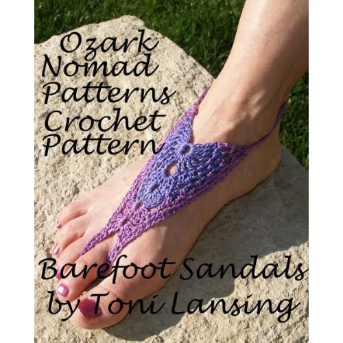 Image: Ozark Nomad Patterns Crochet Pattern for Barefoot Sandals: Toni