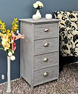 Ts ideen cassettiera a 4 cassetti effetto usato colore - Cassettiere bagno amazon ...