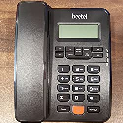 Beetel M57 CLI Corded Phone (Black)