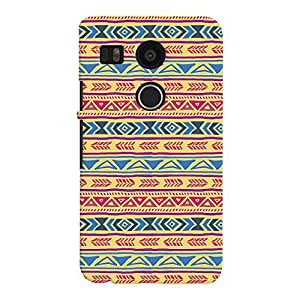 ColourCrust LG Google Nexus 5X Mobile Phone Back Cover With Indian Pattern - Durable Matte Finish Hard Plastic Slim Case