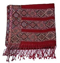 Kinari Women's Pashmina Stole (Red)