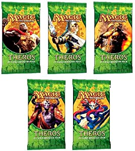 Theros 5 (Five) Packs of Magic the Gathering MTG - Booster Pack Lot (5 Packs)