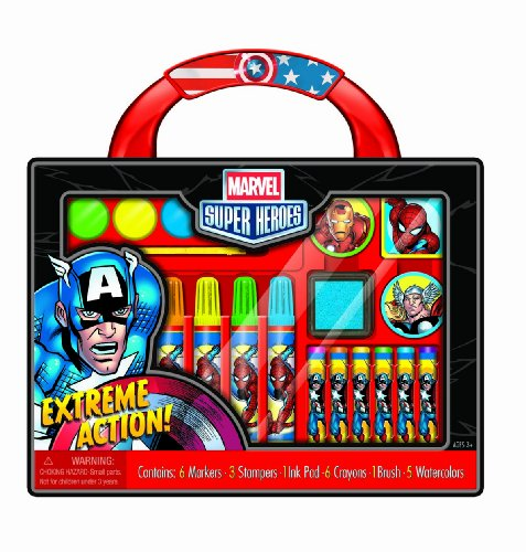 Bendon Marvel Super Heroes Take-Along Art Case Activity Set