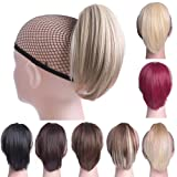 Oubeca Synthetic Claw Clip Ponytail Extensions Straight Short Pony Tail Hair Pieces For Women (M2/30 Light Brown) (Color: M2/30 Light Brown)
