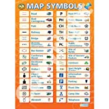 Map Symbols Geography Educational Wall ChartPoster in laminated paper A1 850mm x 594mm