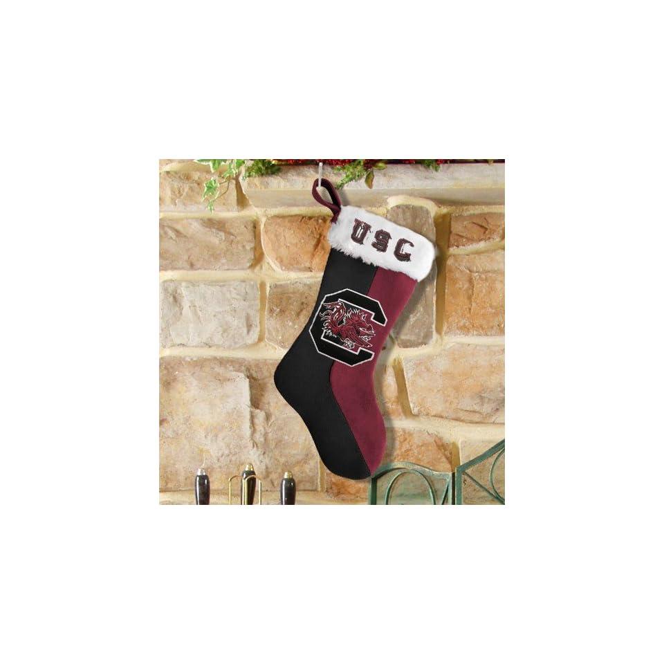 South Carolina Gamecocks Garnet Black Plush Stocking