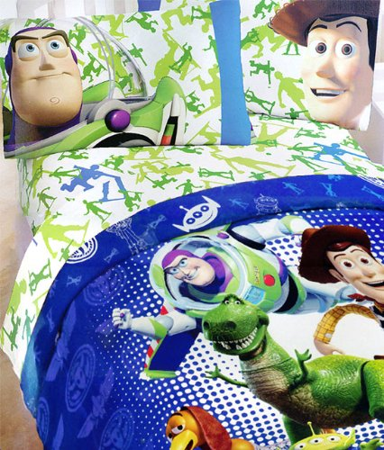 3pc Toy Story Toys in Training Twin Bed Sheet Set