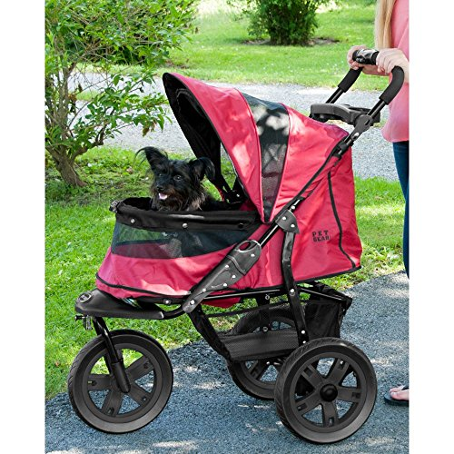 Pet Gear AT3 No-Zip Pet Stroller, Forest Green