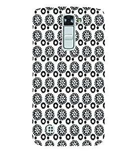 PrintVisa Corporate Print & Pattern Flower 3D Hard Polycarbonate Designer Back Case Cover for LG K7