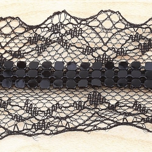 10yard Black Lace Combine Mesh Sewing Trim Lace 1.57