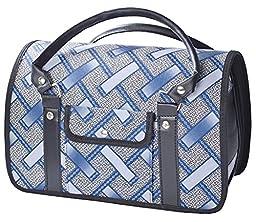 Woo Woo Pets Hard-Side Pet Carrier Pets Handbag Blue M