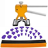 PDR Tools,Gliston 31pcs Paintless Dent Repair Tools Set PDR Golden Dent Lifter + PDR Glue Sticks + PDR Glue Tabs Auto Body Dent Removal tools Car Dent Removal Tool Kit