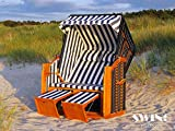 Strandkorb XXL - Luxusstrandkorb - aus Holz und Polyrattan