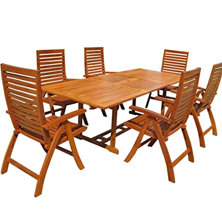 LD Sitzgruppe Sitzgarnitur Holz Gartenmöbel Stuhl Gartentisch Tisch Esstisch