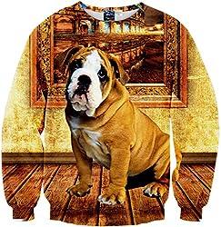 Pizoff Unisex Hip Hop sweatshirts with 3D printing Digital Pattern